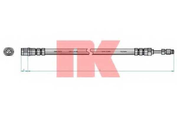 Тормозной шланг NK 8547108 - изображение 1