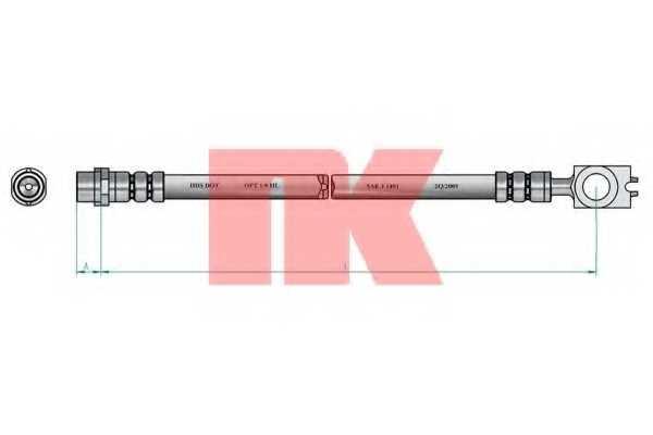 Тормозной шланг NK 8547112 - изображение 1