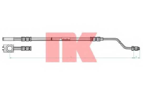 Тормозной шланг NK 8547115 - изображение