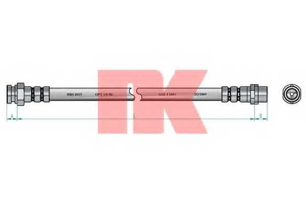 Тормозной шланг NK 8547118 - изображение 1
