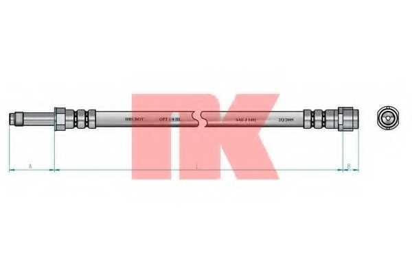 Тормозной шланг NK 8547131 - изображение