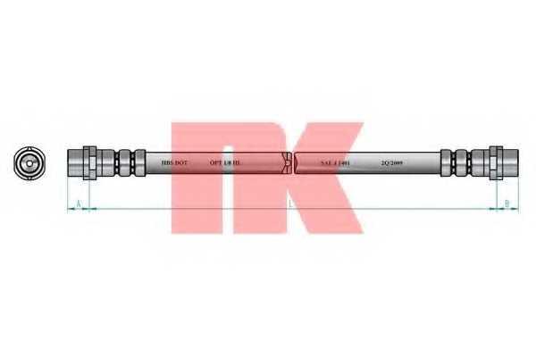Тормозной шланг NK 8547132 - изображение