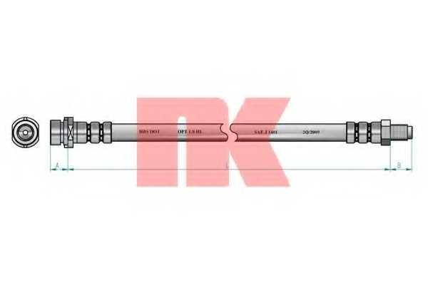 Тормозной шланг NK 8547133 - изображение