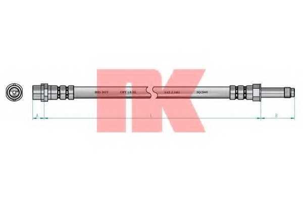 Тормозной шланг NK 8547134 - изображение