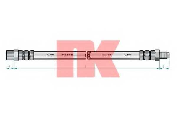Тормозной шланг NK 854752 - изображение