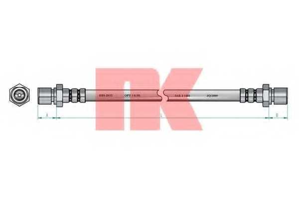 Тормозной шланг NK 854758 - изображение