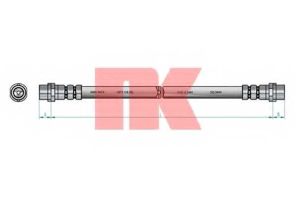 Тормозной шланг NK 854763 - изображение 1