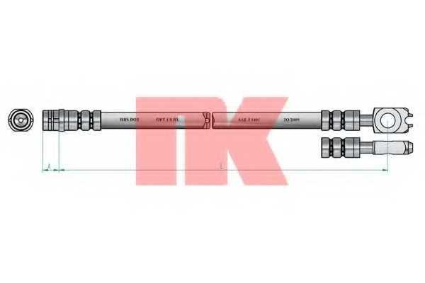 Тормозной шланг NK 854765 - изображение