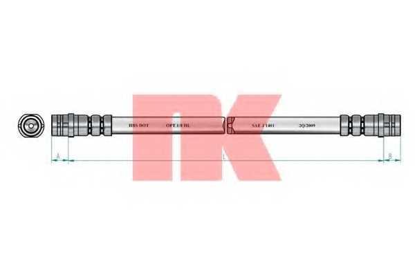Тормозной шланг NK 854766 - изображение 1