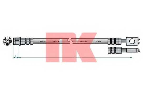 Тормозной шланг NK 854775 - изображение