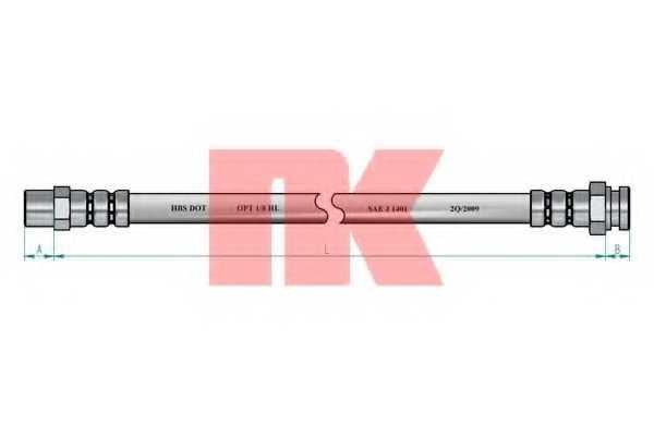 Тормозной шланг NK 854789 - изображение