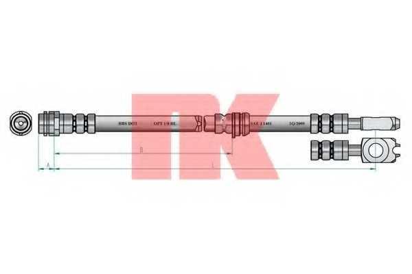 Тормозной шланг NK 854791 - изображение 1