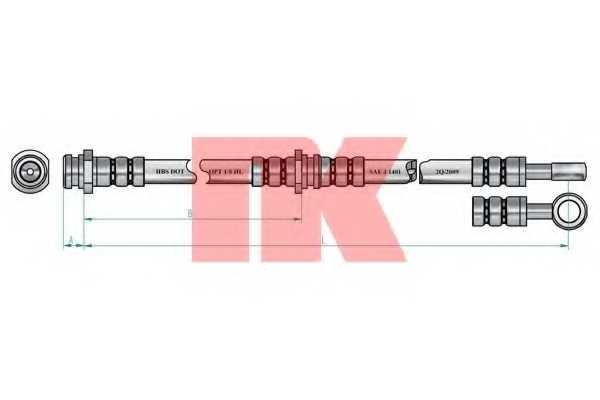 Тормозной шланг NK 854819 - изображение