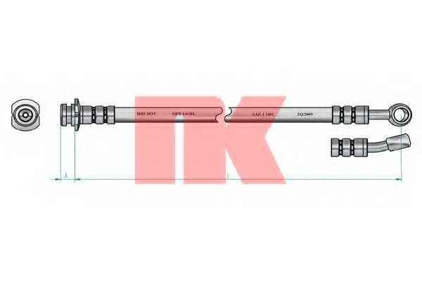 Тормозной шланг NK 855001 - изображение 1