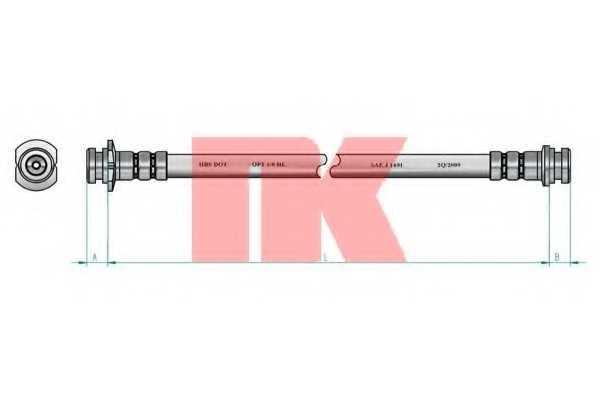 Тормозной шланг NK 855003 - изображение 1