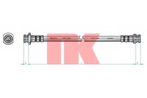 Тормозной шланг NK 855018 - изображение 1