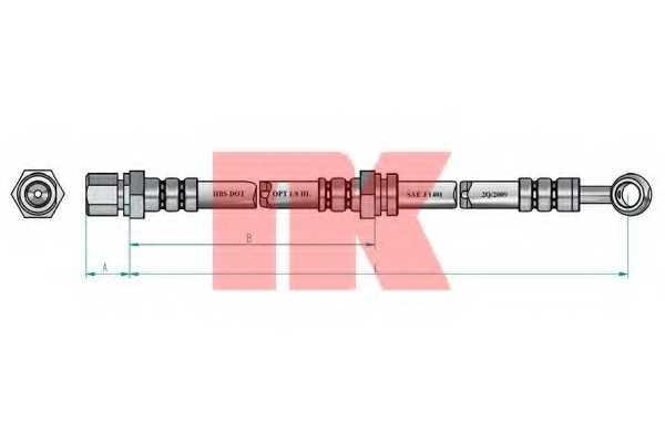 Тормозной шланг NK 855019 - изображение 1