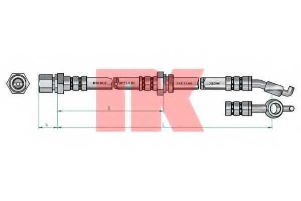 Тормозной шланг NK 855021 - изображение