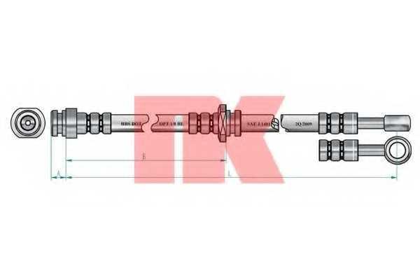 Тормозной шланг NK 855201 - изображение 1