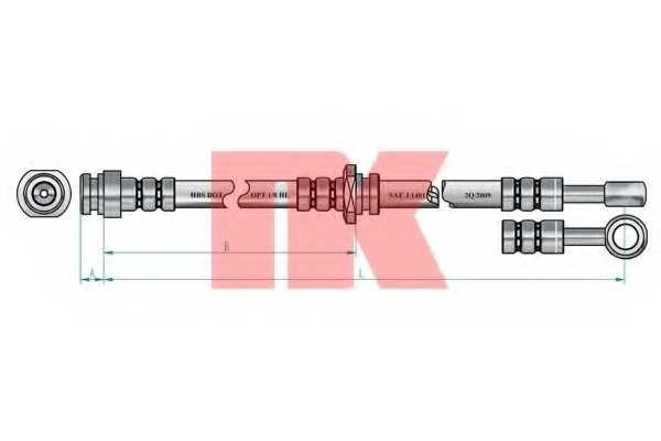 Тормозной шланг NK 855210 - изображение