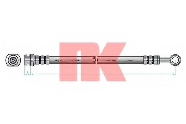 Тормозной шланг NK 855221 - изображение 1