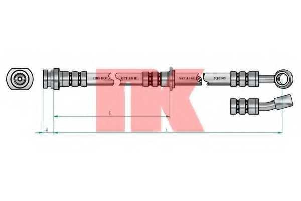 Тормозной шланг NK 855224 - изображение