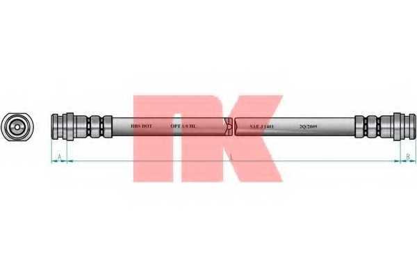Тормозной шланг NK 855228 - изображение