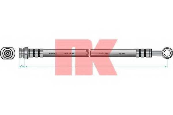 Тормозной шланг NK 855229 - изображение
