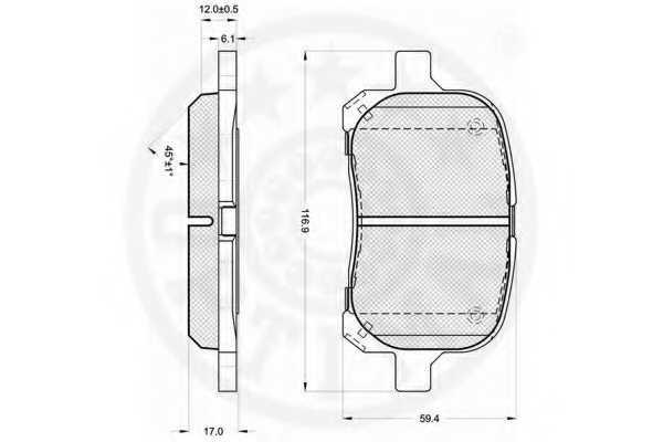 Колодки тормозные дисковые OPTIMAL 12213 - изображение 1