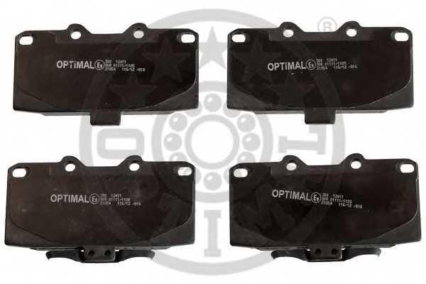 Колодки тормозные дисковые OPTIMAL 12411 - изображение