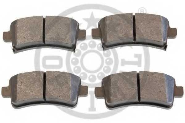 Колодки тормозные дисковые OPTIMAL 12454 - изображение 1
