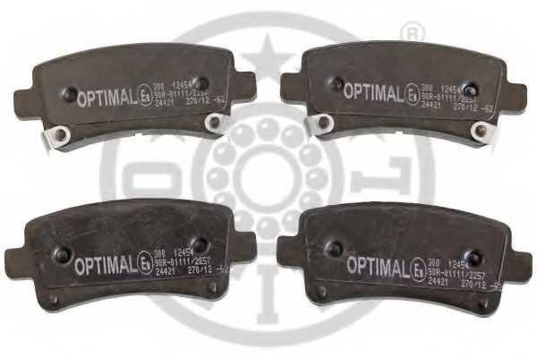 Колодки тормозные дисковые OPTIMAL 12454 - изображение