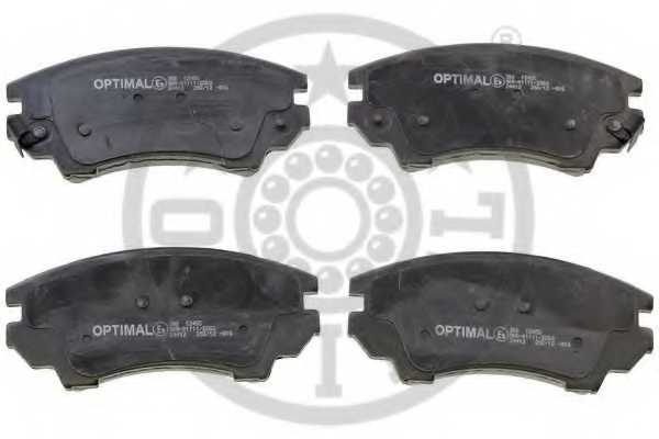 Колодки тормозные дисковые передний для OPEL ASTRA GTC J, INSIGNIA, ZAFIRA(P12) / SAAB 9-5(YS3G) <b>OPTIMAL 12455</b> - изображение