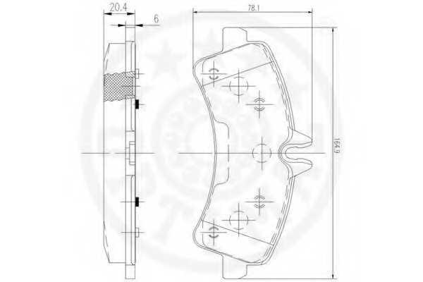 Колодки тормозные дисковые OPTIMAL 12472 - изображение 2