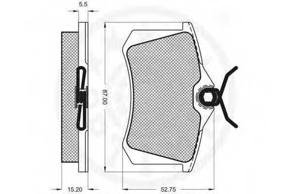 Колодки тормозные дисковые OPTIMAL 20961 / 9548 - изображение 2