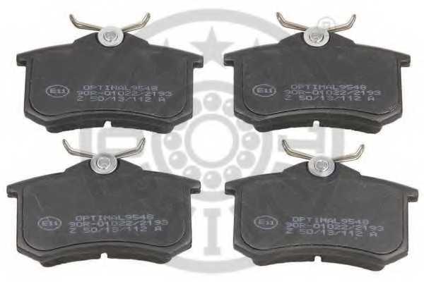 Колодки тормозные дисковые OPTIMAL 20961 / 9548 - изображение