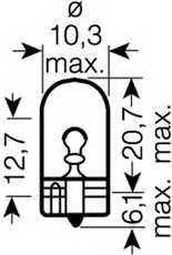 Лампа накаливания 12В 6Вт OSRAM 2886X - изображение 1