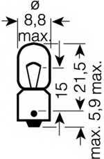 Лампа накаливания 12В 5Вт OSRAM 3860 - изображение 1
