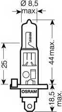 Лампа накаливания H1 12В 100Вт OSRAM 62200SBP - изображение