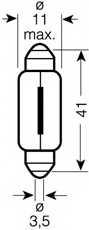 Лампа накаливания 12В 10Вт OSRAM 6411-02B - изображение