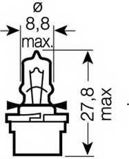 Лампа накаливания 12В 3Вт OSRAM 64122 MF - изображение 1