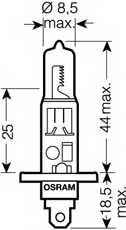 Лампа накаливания H1 12В 55Вт +110% OSRAM OSRAM NIGHT BREAKER UNLIMITED 64150NBU - изображение