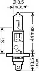 Лампа накаливания H1 12В 55Вт OSRAM OSRAM ULTRA LIFE 64150ULT-01B - изображение 1