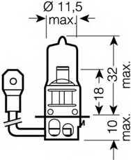 Лампа накаливания H3 12В 55Вт +110% OSRAM OSRAM NIGHT BREAKER UNLIMITED 64151NBU-01B - изображение