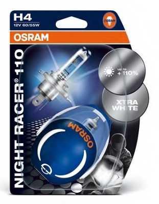 Лампа накаливания H4 12В 60/55Вт +110% OSRAM NIGHT RACER 110 64193NR1-02B - изображение 1