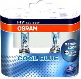 Лампа накаливания H7 12В 55Вт +20% OSRAM COOL BLUE INTENSE 64210CBI-HCB - изображение