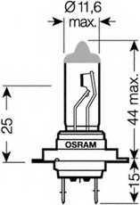 Лампа накаливания H7 12В 55Вт +110% OSRAM NIGHT RACER 110 64210NR1-01B - изображение