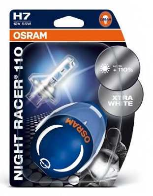 Лампа накаливания H7 12В 55Вт +110% OSRAM NIGHT RACER 110 64210NR1-02B - изображение 2