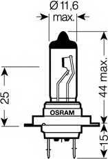 Лампа накаливания OSRAM H7 / 64210SV2-HCB - изображение 1