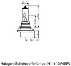 Лампа накаливания H11 12В 55Вт +110% OSRAM OSRAM NIGHT BREAKER UNLIMITED 64211NBU-01B - изображение